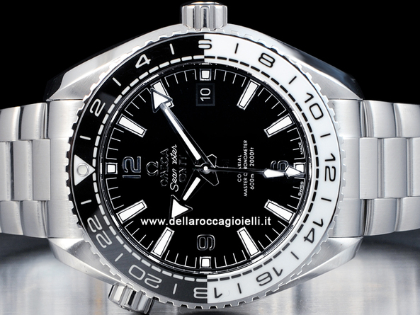 Omega Seamaster Planet Ocean 600M Gmt Co-Axial Master Chronometer 21530442201001 Quadrante Nero